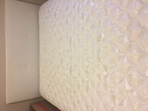 Serta queen mattress almost new with a white queen bed