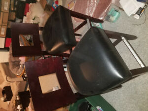 chairs leather faux
