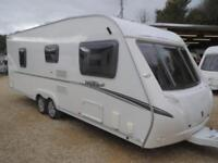 Abbey Vogue 620 2009 4 Berth Fixed Bed End Washroom Twin Axle Touring Caravan