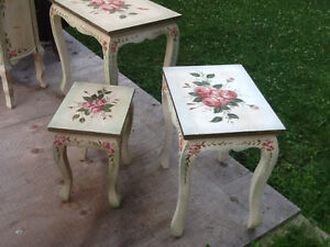 Set of 4 nesting tables  & accent round tower with DRAWERS REDUC Kingston Kingston Area image 6