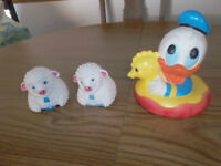 3 VINTAGE BABY TOYS
