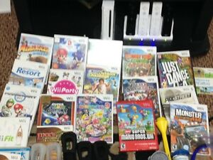 Nintendo wii console,games and all accessories
