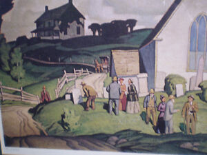 """A.J. Casson - """" Country Crisis """" -  Limited Edition Print Kitchener / Waterloo Kitchener Area image 8"""