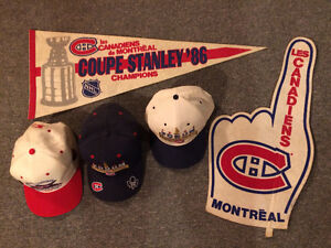 Montreal Canadiens Habs collector hats, caps, banners NHLStanley