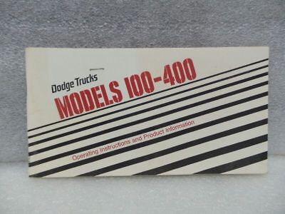 DODGE PICKUP TRUCK 100 200 300 400 TDOD100   1977 Owners Manual 16525