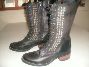 STEVE MADDEN, High Top Studded Combat Boots, in Mint Condition