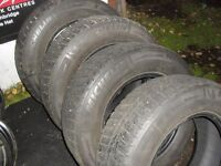 """4- 205 70 r15"""" Michelin x-ice studless winter tires """"cheap"""""""