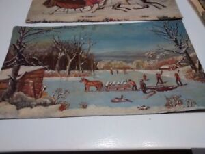 Oil Paintings  after Currier and Ives