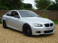 2007 07, BMW 320d 2.0TD auto d M Sport Coupe + RED HEATED LEATHER + XENONS