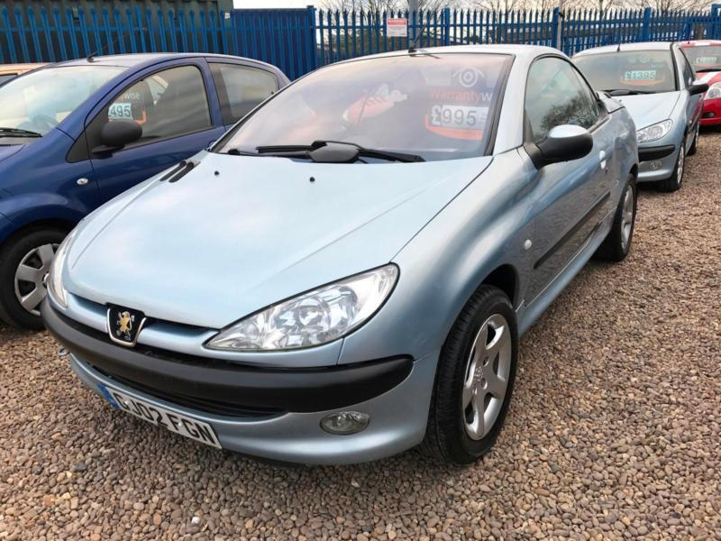 Peugeot 206 1.6 COUPE CABRIOLET S ONLY 84K 6 SERVICE STAMPS