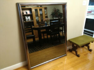"""SOLID CHROME TINTED MIRROR 40"""" WIDE  BY 52 """" HIGH"""