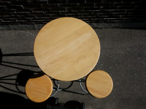 Mildly Used Hard Wood Bistro Set