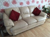 3 Seater leather sofa for sale - DELIVERY available
