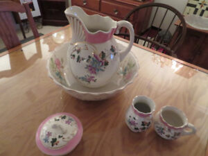 Antique Wash Bowl, Picture and Accessories