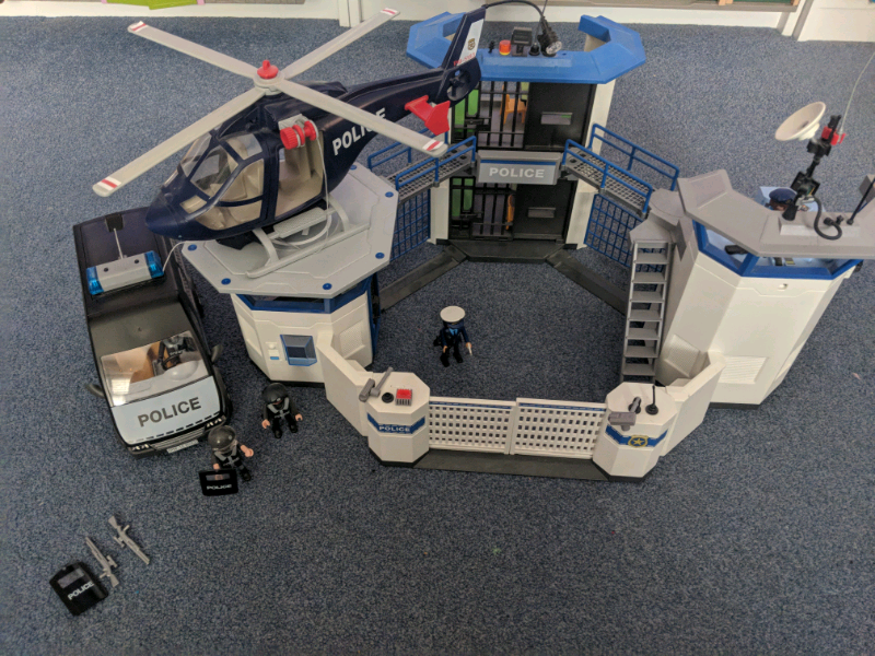 Playmobil prison with lights and sounds prison/riot van and helicopter   in  Poole, Dorset   Gumtree