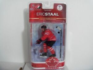 Signed Eric Staal Team Canada 2010 Olympic Team McFarlane Figure