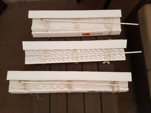 "WHITE FAUX WOOD BLINDS (2"")"