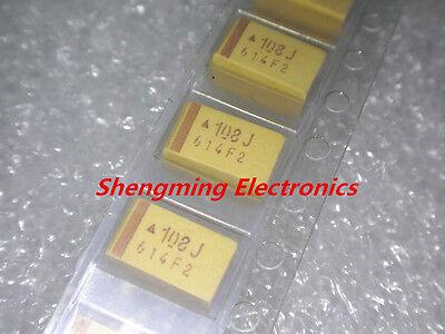 50pcs 7343e 6.3v 1000uf 108j E-type Smd Tantalum Capacitors