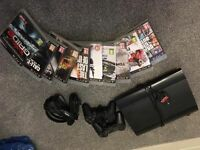 PS3 500gb Slim console with 10 games!
