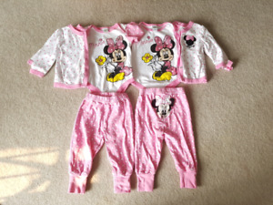 Two identical minnie mouse 3-pc sets 12m