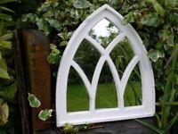 Garden Distressed Arch Mirror Vintage Style 3046