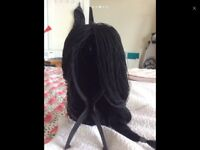 Wig. Black plaited lace front. Half price!