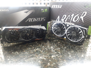 2x Nvidia 1060 6gb for sale !