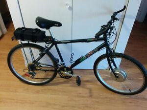 Vélo électrique Minelli 21 vitesses + 400 Watts + Batt. NEUVES