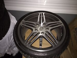 """Porsche Turbo rims with winter tires 19"""" like new condition"""