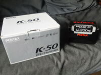 BRAND NEW Pentax K-50 WR DSLR camera w 18-55mm lens and more!