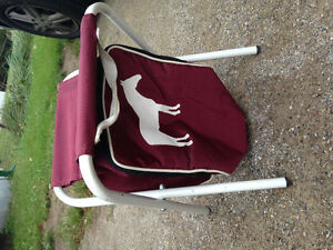 Folding chair with horse on it