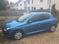 Blue Peugeot 5 door 1.4 Petrol *under 60k* 2001 plate