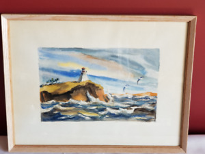 Gerard Schaap Watercolour of Cape Enrage