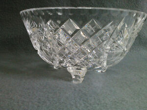 Collectible Antique Crystal Three Footed Bowl London Ontario image 1