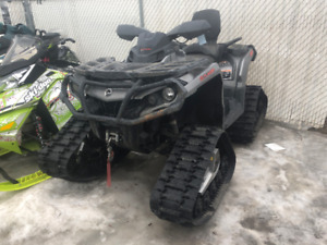 CAN AM OUT LANDER 850 WITH TRACKS FOR SALE !