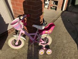 Cupcake Apollo kids bike with stabiliser