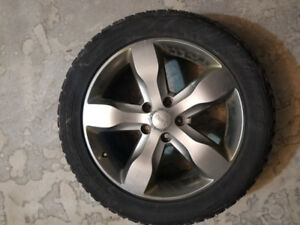 """OEM 20"""" Jeep Grand Cherokee wheels with winter tires, TPMS senso"""