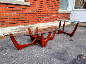 Ensemble Tables Salon Mid Century Style Adrian Pearsall West Island Greater Montréal image 7