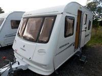 Compass Corona 475 2003 5 Berth Lightweight Touring Caravan - Double Dinette