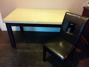 Solid Table and 4 chairs for sale
