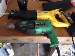 Reciprocating saw And an Hitachi Hammer drill Cambridge Kitchener Area image 3