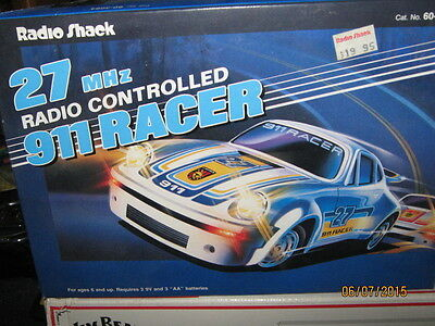 Vintage Radio Shack Porsche 911   27 Racing Team Original Box Free Shipping