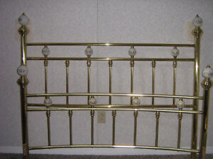 Fifth Ave Queen Size Brass Bed & Heavy Duty Bed Frame London Ontario image 1
