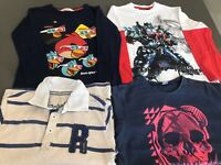 Age 6-7 Years Transformers, Angry Birds, skull and striped top