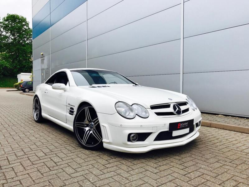 2003 53 reg mercedes benz sl55 amg 5 5 v8 auto convertible white bodykit lhd in watford. Black Bedroom Furniture Sets. Home Design Ideas