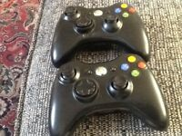 3 Xbox 360 wireless controllers