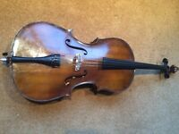 1/2 half size cello - Golden Strad, Boosey & Hawkes - with bow and soft case