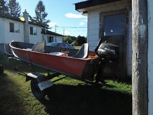 14 ft boat motor and trailor