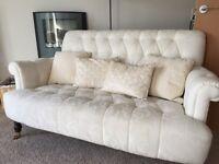 Laura Ashley button back sofa