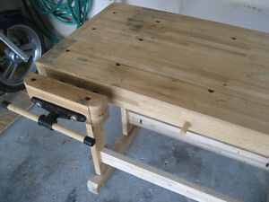Woodworker's Bench - Solid Maple w/tail and side vises Kitchener / Waterloo Kitchener Area image 3